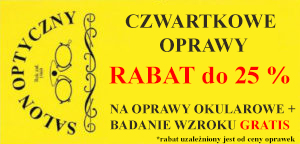 czwartkowe oprawy rabat optyk Warszawa